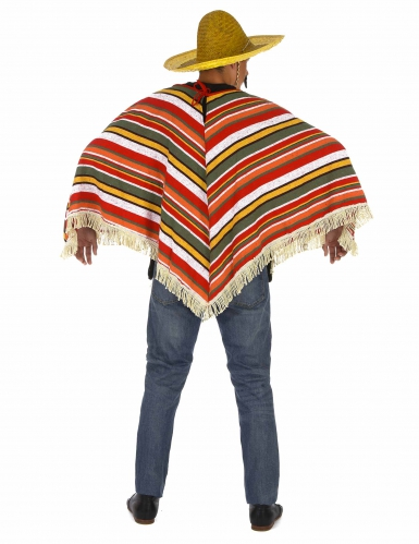 Poncho mexicain adulte