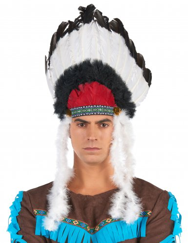 Coiffe indien avec plumes adulte