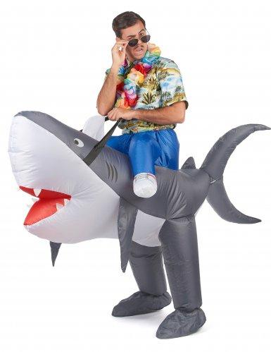 Déguisement requin gonflable adulte