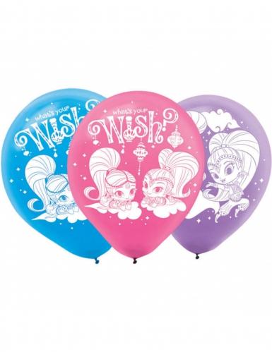6 Ballons Latex Shimmer & Shine ™ 23 cm