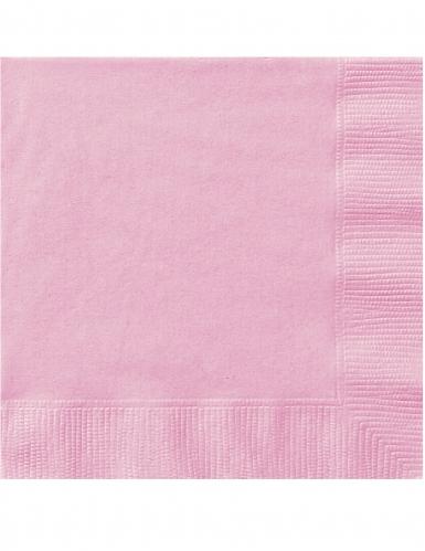 50 Serviettes en papier rose clair 33 x 33 cm