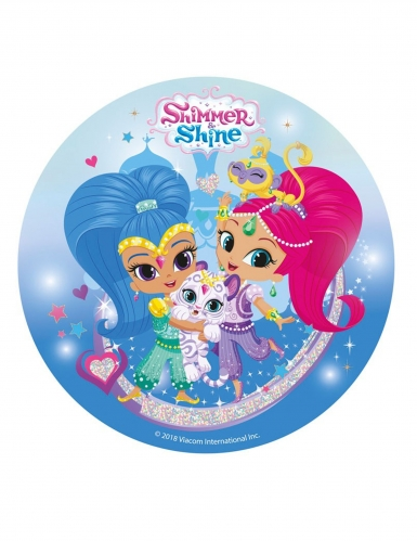 Disque en sucre Shimmer and Shine ™ 20 cm
