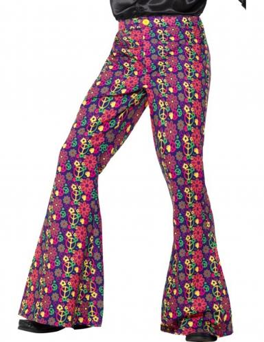 Pantalon hippie peace flower homme