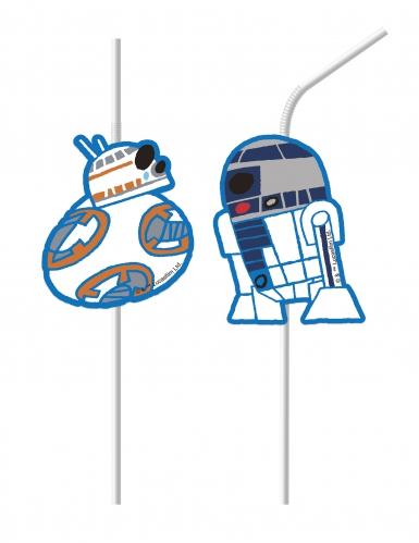 6 Pailles médaillon Star Wars Forces™