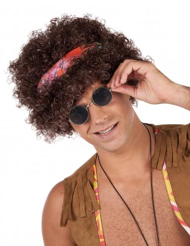 Perruque afro hippie brune - 130 g