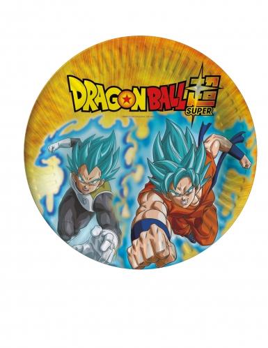 8 Assiettes en carton Dragon Ball Super™ 23 cm