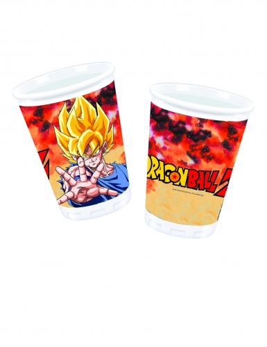 8 Gobelets en plastique Dragon Ball Z™ 200 ml