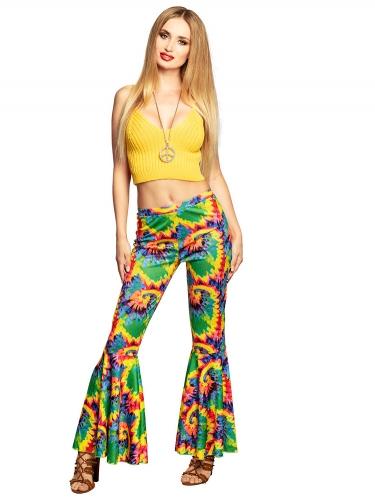 Pantalon pattes d'éléphant hippie adulte