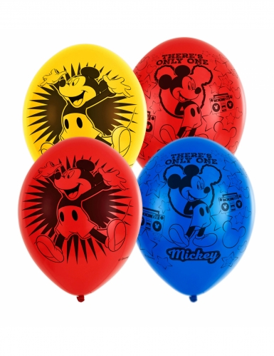 6 Ballons en latex Mickey Mouse™ 27,5 cm