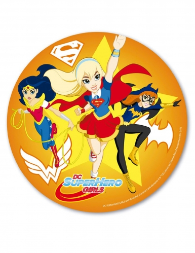 Disque en azyme Superhero Girls™ orange 20 cm