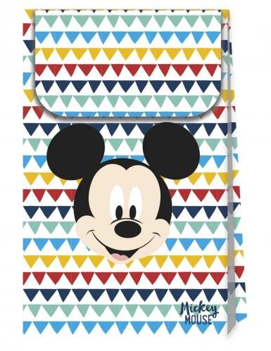 6 sacs cadeaux en carton premium Mickey™ 21 X 13 cm
