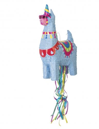 Piñata lama bleu 50 cm