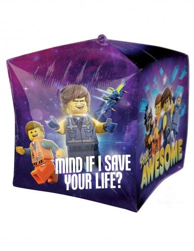 Ballon en aluminium cube La Grande Aventure Lego 2™ 38 x 38cm