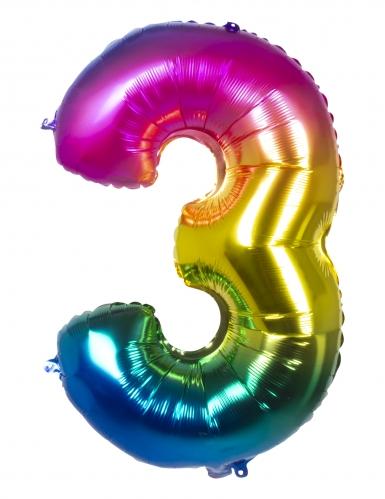 Ballon aluminium multicolore 86 cm