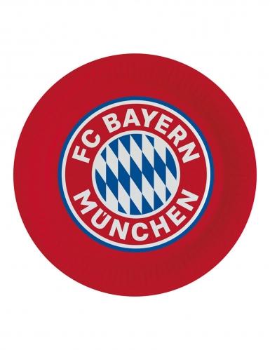 8 Assiettes en carton FC Bayern Munich™ 23 cm