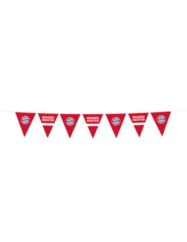 Guirlande fanions en plastique FC Bayern Munich™ 4m