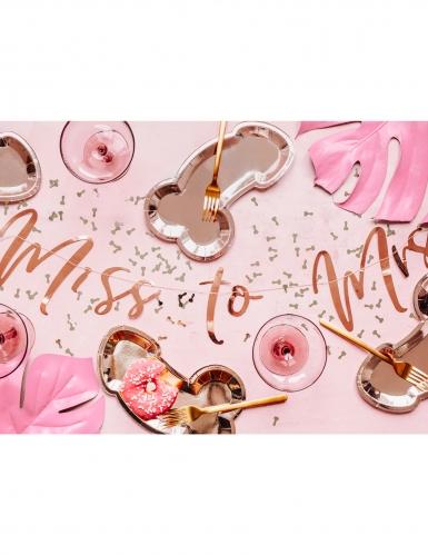 6 Assiettes en carton zizi rose gold 26,5 x 15,5 cm