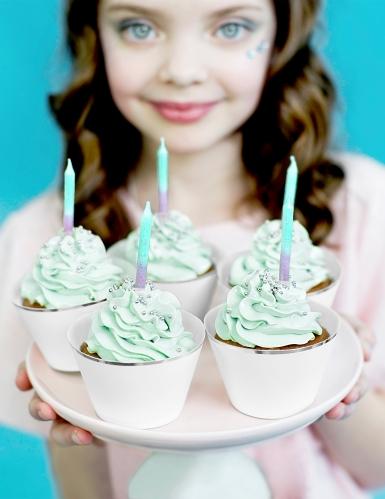 20 Bougies d'anniversaire sirène 6 cm
