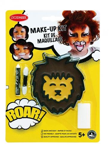 Kit maquillage lion avec pinceau et éponge enfant