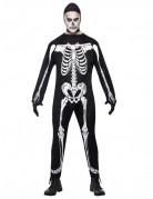 Déguisement squelette homme avec cagoule Halloween
