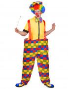 D�guisement clown � carreaux color�s homme