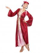 Déguisement rouge reine médiévale femme