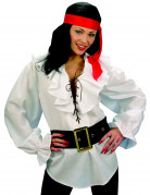 Chemise blanche pirate femme