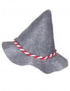 Chapeau bavarois adulte avec cordelette rouge et blanche