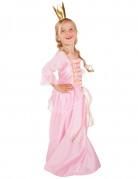 Déguisement princesse rose et doré fille