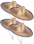 Sombrero mexicain en paille adulte