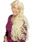Perruque longue blonde adulte