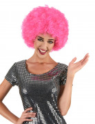 Perruque afro disco rose confort adulte