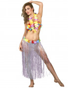 Vous aimerez aussi : Jupe hawaïenne longue blanche adulte