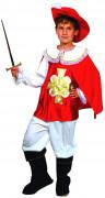 Déguisement mousquetaire rouge et blanc garçon