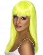 Vous aimerez aussi : Perruque longue jaune fluo à frange femme
