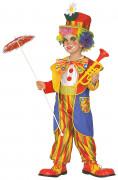 Déguisement clown multicolore enfant