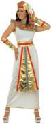 Déguisement reine d'Égypte blanche et or femme