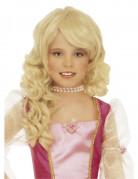 Perruque blonde princesse fille