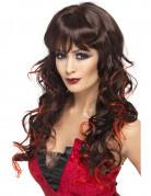 Vous aimerez aussi : Perruque longue noire avec mèches rouges femme