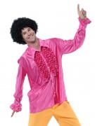 Chemise disco rose homme