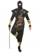 Déguisement ninja dragons dorés homme