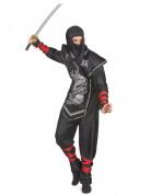 Déguisement ninja dragon argentés homme