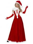Déguisement Mère Noël luxe robe longue femme