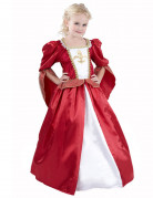 Déguisement princesse médiévale effet satiné fille