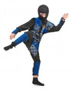 Déguisement ninja bleu et doré garçon