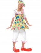 D�guisement clown � pois color�s femme