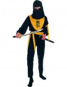 Déguisement ninja jaune et noir garçon