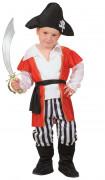 Déguisement pirate gilet rouge garçon