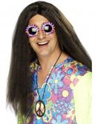 Perruque hippie adulte