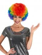 Perruque afro multicolore confort adulte